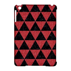 Triangle3 Black Marble & Red Denim Apple Ipad Mini Hardshell Case (compatible With Smart Cover) by trendistuff