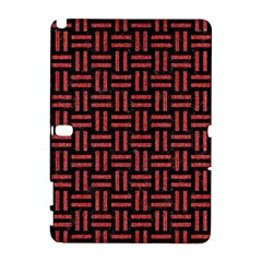 Woven1 Black Marble & Red Denim (r) Galaxy Note 1
