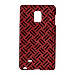 Woven2 Black Marble & Red Denim Galaxy Note Edge