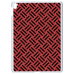 Woven2 Black Marble & Red Denim Apple Ipad Pro 9 7   White Seamless Case by trendistuff