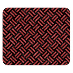 Woven2 Black Marble & Red Denim (r) Double Sided Flano Blanket (small)  by trendistuff