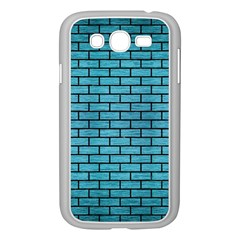Brick1 Black Marble & Teal Brushed Metal Samsung Galaxy Grand Duos I9082 Case (white) by trendistuff