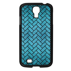 Brick2 Black Marble & Teal Brushed Metal Samsung Galaxy S4 I9500/ I9505 Case (black) by trendistuff