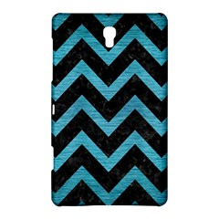 Chevron9 Black Marble & Teal Brushed Metal (r) Samsung Galaxy Tab S (8 4 ) Hardshell Case  by trendistuff