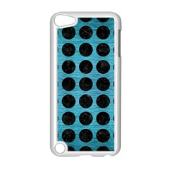 Circles1 Black Marble & Teal Brushed Metal Apple Ipod Touch 5 Case (white)