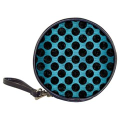 Circles2 Black Marble & Teal Brushed Metal Classic 20 Cd Wallets by trendistuff