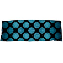 Circles2 Black Marble & Teal Brushed Metal (r) Body Pillow Case (dakimakura) by trendistuff