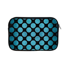 Circles2 Black Marble & Teal Brushed Metal (r) Apple Ipad Mini Zipper Cases