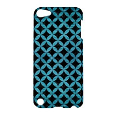 Circles3 Black Marble & Teal Brushed Metal (r) Apple Ipod Touch 5 Hardshell Case by trendistuff