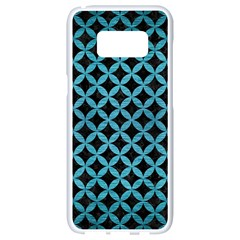 Circles3 Black Marble & Teal Brushed Metal (r) Samsung Galaxy S8 White Seamless Case by trendistuff