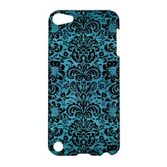 Damask2 Black Marble & Teal Brushed Metal Apple Ipod Touch 5 Hardshell Case by trendistuff