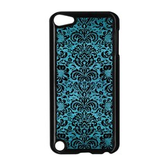 Damask2 Black Marble & Teal Brushed Metal Apple Ipod Touch 5 Case (black) by trendistuff