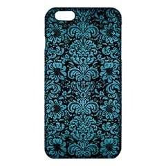 Damask2 Black Marble & Teal Brushed Metal (r) Iphone 6 Plus/6s Plus Tpu Case