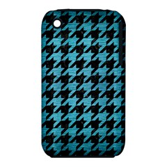 Houndstooth1 Black Marble & Teal Brushed Metal Iphone 3s/3gs