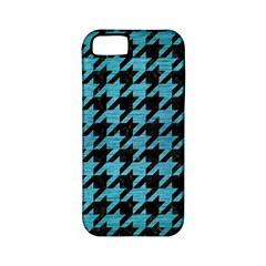Houndstooth1 Black Marble & Teal Brushed Metal Apple Iphone 5 Classic Hardshell Case (pc+silicone) by trendistuff