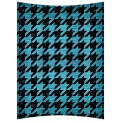 Houndstooth1 Black Marble & Teal Brushed Metal Back Support Cushion