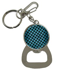 Houndstooth2 Black Marble & Teal Brushed Metal Button Necklaces by trendistuff