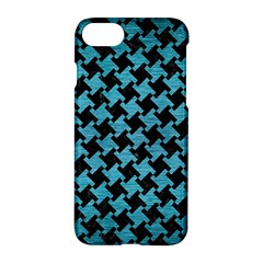 Houndstooth2 Black Marble & Teal Brushed Metal Apple Iphone 7 Hardshell Case by trendistuff