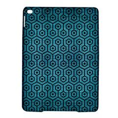 Hexagon1 Black Marble & Teal Brushed Metal Ipad Air 2 Hardshell Cases by trendistuff