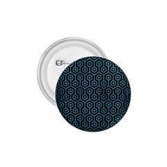 Hexagon1 Black Marble & Teal Brushed Metal (r) 1 75  Buttons by trendistuff