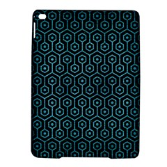 Hexagon1 Black Marble & Teal Brushed Metal (r) Ipad Air 2 Hardshell Cases by trendistuff