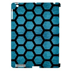 Hexagon2 Black Marble & Teal Brushed Metal Apple Ipad 3/4 Hardshell Case (compatible With Smart Cover) by trendistuff