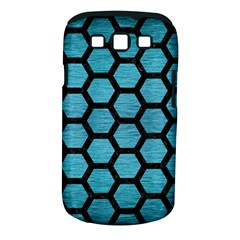 Hexagon2 Black Marble & Teal Brushed Metal Samsung Galaxy S Iii Classic Hardshell Case (pc+silicone) by trendistuff