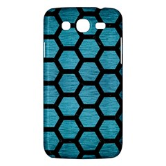 Hexagon2 Black Marble & Teal Brushed Metal Samsung Galaxy Mega 5 8 I9152 Hardshell Case  by trendistuff