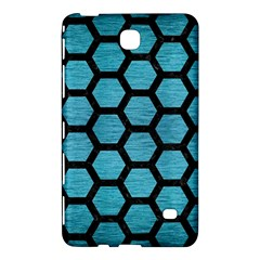 Hexagon2 Black Marble & Teal Brushed Metal Samsung Galaxy Tab 4 (8 ) Hardshell Case  by trendistuff