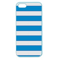 Blue And White Lines Apple Seamless Iphone 5 Case (color) by berwies