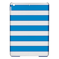 Blue And White Lines Ipad Air Hardshell Cases by berwies