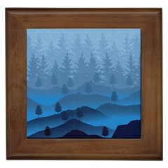 Blue Mountain Framed Tiles by berwies