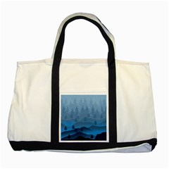 Blue Mountain Two Tone Tote Bag by berwies