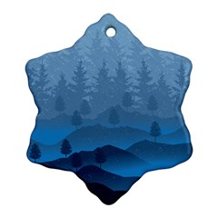 Blue Mountain Ornament (snowflake) by berwies