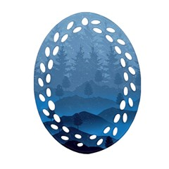Blue Mountain Ornament (oval Filigree) by berwies