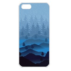 Blue Mountain Apple Iphone 5 Seamless Case (white) by berwies