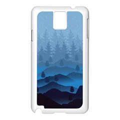 Blue Mountain Samsung Galaxy Note 3 N9005 Case (white)
