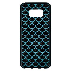 Scales1 Black Marble & Teal Brushed Metal (r) Samsung Galaxy S8 Plus Black Seamless Case by trendistuff