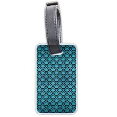 Scales2 Black Marble & Teal Brushed Metal Luggage Tags (two Sides) by trendistuff