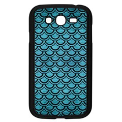 Scales2 Black Marble & Teal Brushed Metal Samsung Galaxy Grand Duos I9082 Case (black) by trendistuff