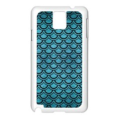 Scales2 Black Marble & Teal Brushed Metal Samsung Galaxy Note 3 N9005 Case (white)