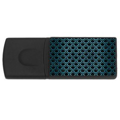 Scales2 Black Marble & Teal Brushed Metal (r) Rectangular Usb Flash Drive by trendistuff