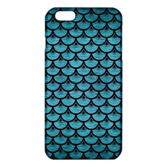 Scales3 Black Marble & Teal Brushed Metal Iphone 6 Plus/6s Plus Tpu Case by trendistuff