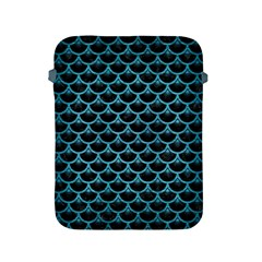 Scales3 Black Marble & Teal Brushed Metal (r) Apple Ipad 2/3/4 Protective Soft Cases by trendistuff