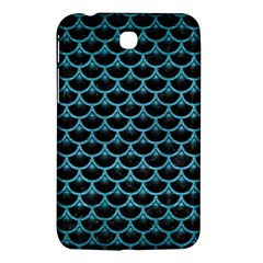 Scales3 Black Marble & Teal Brushed Metal (r) Samsung Galaxy Tab 3 (7 ) P3200 Hardshell Case  by trendistuff
