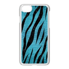 Skin3 Black Marble & Teal Brushed Metal Apple Iphone 8 Seamless Case (white)