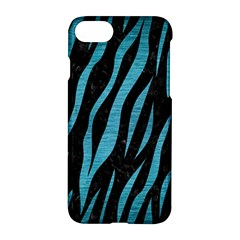 Skin3 Black Marble & Teal Brushed Metal (r) Apple Iphone 8 Hardshell Case by trendistuff