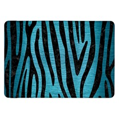 Skin4 Black Marble & Teal Brushed Metal (r) Samsung Galaxy Tab 8 9  P7300 Flip Case by trendistuff