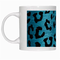 Skin5 Black Marble & Teal Brushed Metal (r) White Mugs by trendistuff