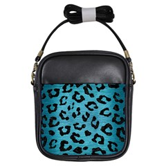 Skin5 Black Marble & Teal Brushed Metal (r) Girls Sling Bags by trendistuff
